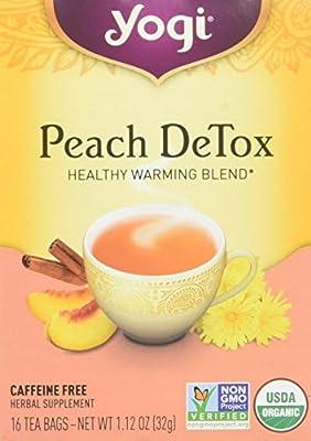 Yogi Tea, Peach Detox, 16 Count, Packaging May Vary from Yogi