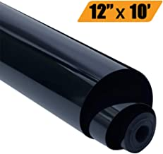 EATOP HTV Heat Transfer Vinyl, Easy to Weed Iron On Vinyl for T-Shirts 12'' x 10' Rolls (Black)