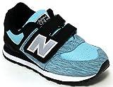 New Balance Kv574 - Zapatillas de Deporte para niña Negro Noir (Smy Black/Blue) 32