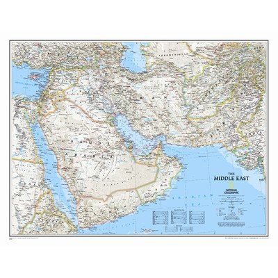 National Geographic Maps Middle East Wall Map Map Type: Standard (24 x 30)