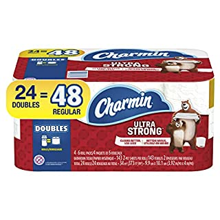 Charmin Ultra Strong Toilet Paper, 24 Double Rolls (Equal to 48 Regular Rolls) (B07DWBFW6Z) | Amazon price tracker / tracking, Amazon price history charts, Amazon price watches, Amazon price drop alerts