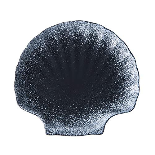BIIII Vajilla de cerámica de 8 pulgadas, plato de cena hecho a mano de porcelana, plato profundo para banquete, utilizado para ensalada de carne