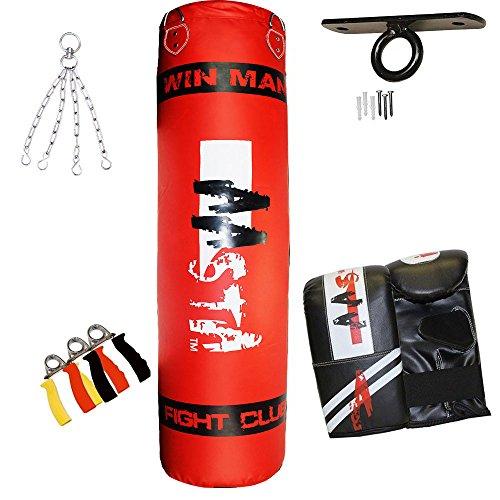 Aasta 0,9m con guanti da boxe sacco da boxe + gancio per soffitto + catena + + HAND Gripper Set