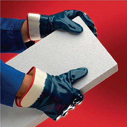 Handschuhe EN388 Kt.II Hycron 27-805 Gr.10 Baumwoll-Jersey mit Nitril blau,12 Paar