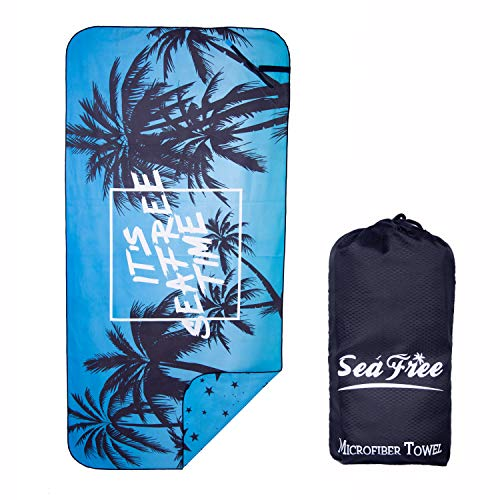 Sea Free Toalla Playa Grande Microfibra Verano 80x160cm