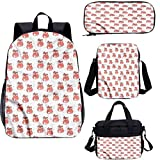 Juego de mochila para adolescentes de 15 pulgadas, resumen punteado fondo escolar bolsas para trabajo, escuela, viajes, picnic