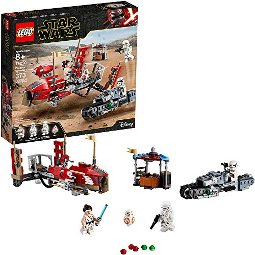 LEGO Star Wars: The Rise of Skywalker Pasaana Speeder Chase 75250 Hovering Transport Speeder Building Kit with Action Figures (373 Pieces)