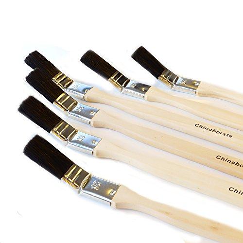 ROTIX-98045 6 X Heizkörperpinsel Ecken-Pinsel 25 mm 1 Zoll schwarze Mischborste Handwerkerqualität