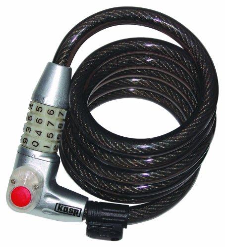 Kasp K750L180 - Candado para cable enrollado para bicicletas con combinación numérica...