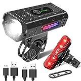 SUPERSTA Bike Light USB Rechargeable Bike Light Set 800 High lumen Front