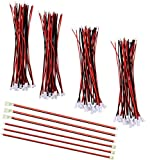 SamIdea 60PCS/30Pairs Micro JST XH2.54 2PIN Male and Female Connector Plug Extension Cable with Red Black Terminal Connector Wire Cable