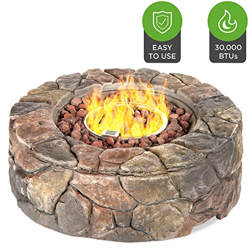 Best Choice Products 30,000 BTU Gas Fire Pit...