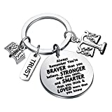 FUSTMW Lawyer Gifts Scales of Justice Lawyer Keychain You are Braved Than You Believe Lawyer Jewelry Attorney Gift Law School Student Gift Graduation Gift New Lawyer Gift (Silver)