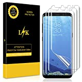 LK [3 Pack] Screen Protector for Samsung Galaxy S8 Plus, [New Version] [Full Coverage] [Bubble-Free] HD Clear Flexible Film