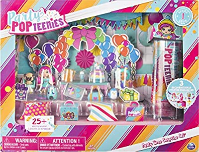 Party Popteenies - Party Time Surprise Set with Confetti, Collectible Dolls and Accessories