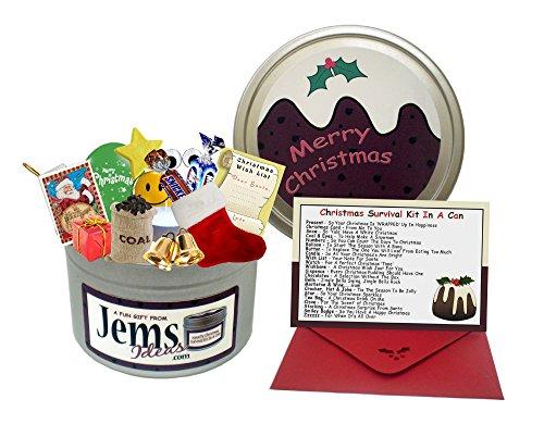 Kit de supervivencia Navidad en una Can. & regalo y tarjeta para el Chef/Manager/Amigo/trabajo/compañeros Workmate. 25. diciembre Happy Christmas