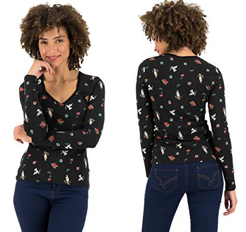 Blutsgeschwister Damen Langarmshirt It's a sin Shirt Longsleeve Shirt Pullover Schwarz XL
