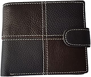 Fashionable Genuine Leather Two Fold ID Card Coin Holder Men Wallet
