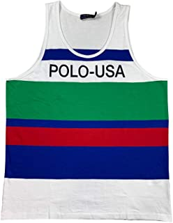 Polo Mens Graphic Stripe Cotton Tank Top