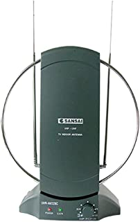 Sansai Amplified Indoor TV Antenna UHF/VHF/HDTV Digital/Analog Reception/Channel