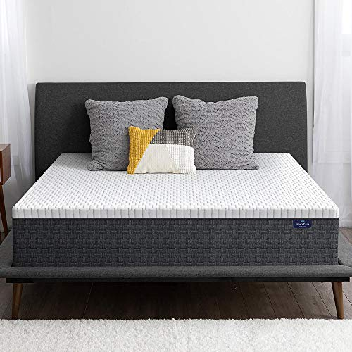 Full Mattress, Inofia Full Size Mattress- 12 Inch High Resilience Memory Foam Double Mattress for Pressure Relief & Cooler Sleeping, Medium Firm Feel, in a Box, 100-Night Trial