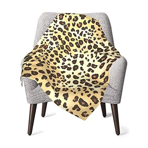 Olverz Manta de patrón de piel de leopardo para bebé, cómoda manta de bebé de felpa gruesa manta de bebé suave manta de bebé para cochecito cuna recién nacidos