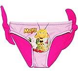 alles-meine.de GmbH Badehöschen / Badehose -  Biene Maja - pink  - Größe 9 Monate bis 1 Jahr - Gr. 80 bis 86 - mit Schleife - für Mädchen Kinder - Mädchenbadehose / Einteiler -..