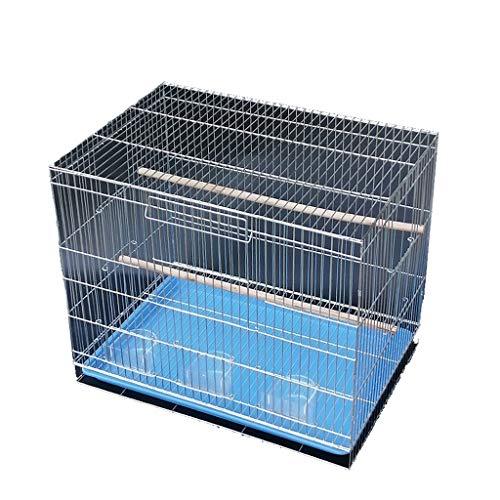 Nostalgie Grande Gabbia per Uccelli con Stand Pappagallo Chinchilla Finch Cage Prodotti Pet Prodotti in Ferro Battuto Select Bird Cage Pet House Volo Bird Cage (Dimensione : 60+41.5+50cm)
