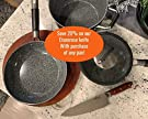 Vesuvio 8 Quart Nonstick Dutch Oven :: Nontoxic Ceramic Coated Stock Pot with Oven Safe Glass Lid #1