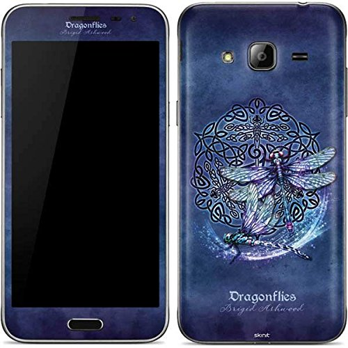 Skinit Decal Phone Skin Compatible with Galaxy J3 - Originally Designed Dragonfly Celtic Knot Design