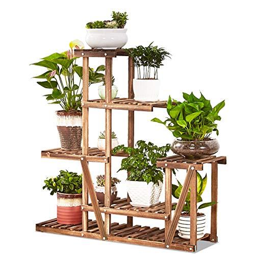 QFF 5-Lagen-Blumenständer Pflanze Stand Bonsai-Ausstellungsständer für Innen- und Außenhof Garten Terrasse Balkon Wohnzimmer