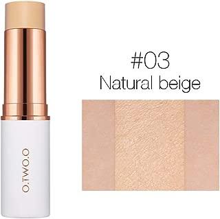 Face Concealer Stick Anself O.TWO.O Velvet Matte Foundation Stick Long-lasting Full Coverage Contour Foundation Concealer Pen Base Makeup