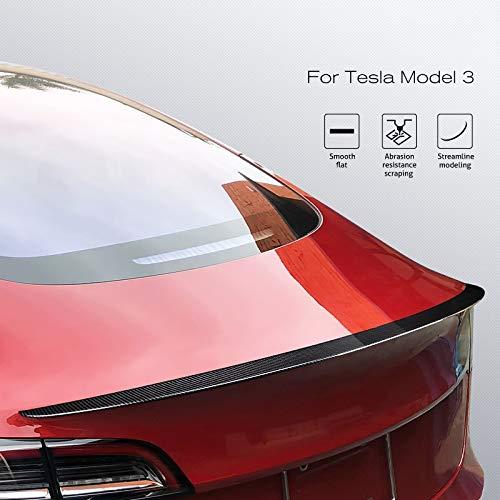 JYJIAJU Alerón Posterior del Tronco for Tesla Model 3 2017-2019 Maletero Trasero de Fibra de Carbono de Labios ABS Alerón Car Styling