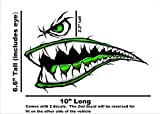 Immortal Graphix World War 2 Flying Tiger Fighter Teeth Tiger Teeth Green New Motorcycle Sportbike Decal Sticker