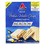 Atkins Protein Wafer Crisps - Lemon Vanilla (Pack of 2)
