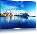 Lofoten in Norwegen, Format: 100x70 auf Leinwand, XXL