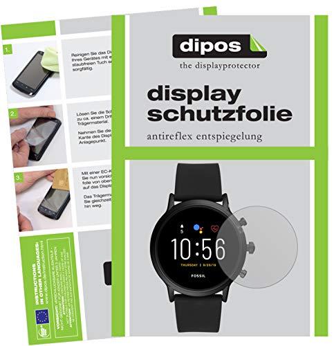 dipos I Schutzfolie matt kompatibel mit Fossil The Carlyle HR (5. Gen.) Folie Displayschutzfolie