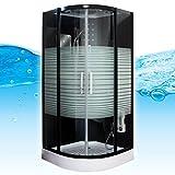 AcquaVapore DTP8068-0310 Dusche Duschtempel Komplett Duschkabine 80x80, EasyClean Versiegelung der Scheiben:2K Scheiben Versiegelung +79.-EUR