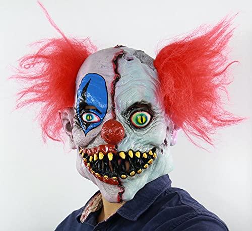 BDTOT Máscara Espeluznante para Halloween,Máscara de Cabeza Muerta de Walking Dead, para Halloween, Carnaval, Temas y Fiestas de Terrormáscara para Cicatrices, Cosplay, terrorista, 3D, Realista