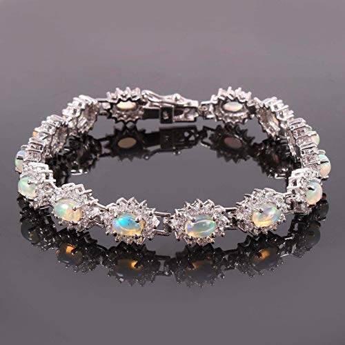 Natural Ethiopian OFFicial Opal Bracelet Direct store Ct Sil 5 Solitaire
