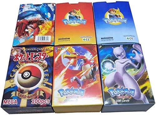 Neu in 2019: 300PCS Pokemon (195GX + 80EX + 25MEGA und 189GX + 11TRAINER + 80EX + 20MEGA), Partyspiel (Werbegeschenke: 300 Seiten Speicherseite),189GX+11TRAINER+80EX+20MEGA 商品名称