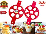 Pancake Mold 2020, Best Cookware Set, 2 Pack 14 Cavity Silicone Cupcake Molds -Best Kitchen Gadgets, Nonstick Cooking Tool Egg Ring Maker, You Only Need a Recipe For Pancakes, Premium Grade Silicone