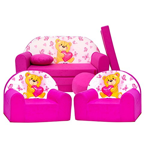 Barabike H3 kit de Lot, Mini pour Enfants, bébé Lot de 3 pour Enfants Canapé + 2 Fauteuil pour Enfant