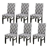 padgene coprisedia con schienale 6 pezzi, fodere per sedia in spandex elasticizzato lavabile sala da pranzo coprisedili elastici per banchetti da cucina in hotel