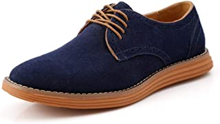 Casual shoes. New Fashion Oxfords For Men Work Shoes Lace Up Genuine Leather Suede Business Dress Dating Driving Vegan Anti-slip Flat Casual Round Toe Good Experience For Outdoor Sports