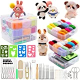 Needle Felting Kit 109Pcs Set, WEST BAY Wool Roving 36 Colors with Complete Felt Tools and Storage Box Needle Felting Starter Kit for DIY Craft Animal Home Decoration Birthday Gift