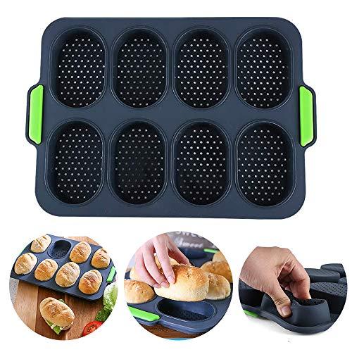 Mini Baguette Backblech, Brot-Crisping-Tablett, Antihaft-Lochpfanne, für Brot-Crisping-Tablett, Laib-Backform, französisches Brot, Brotstock-Brötchen