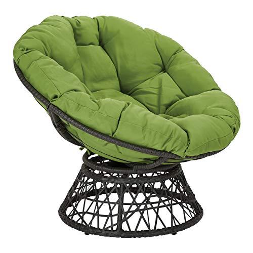 OSP Designs Papasan Chair, Green