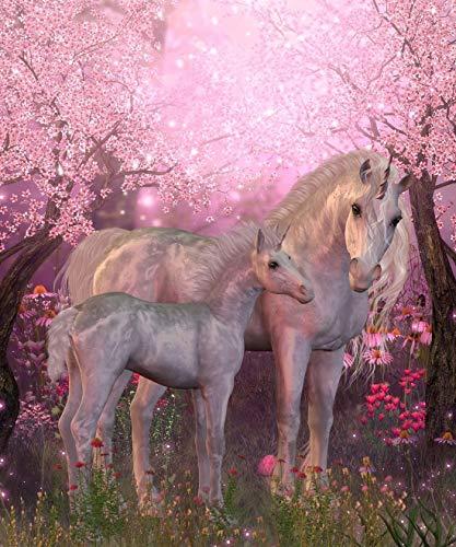 Puzzle 1.500 piezas, Rompecabezas de encastre de Madera, Puzzle Panorama, Obra de Arte de Juego de Rompecabezas para Adultos, Hermoso unicornio