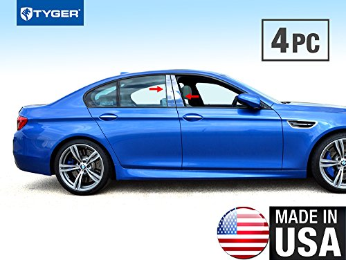 Made in USA! Works with 2011-2015 BMW 5 Series F10 528/535/550 Stainless Steel Chrome Pillar Post Trim 4PC